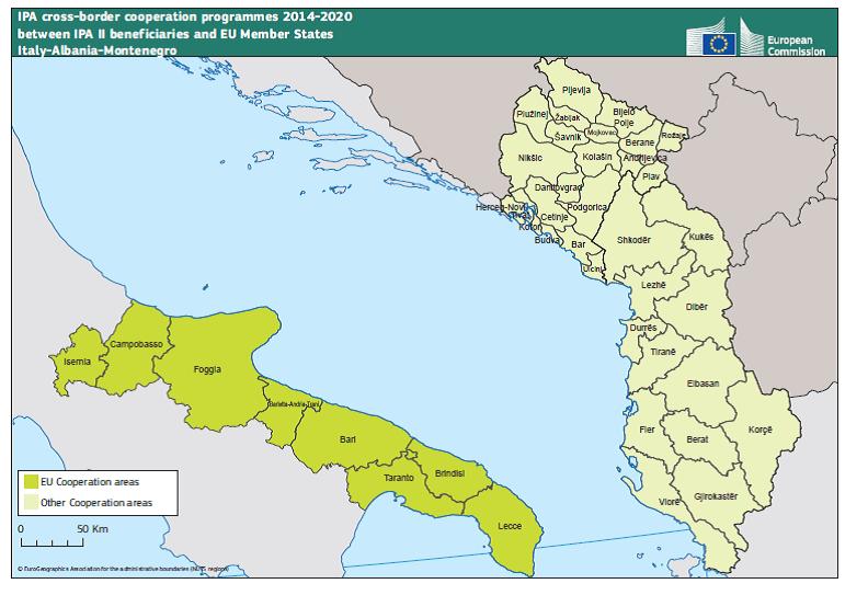 Cartina Puglia Albania.Ipa Cbc Italia Albania Montenegro Europuglia Regione Puglia