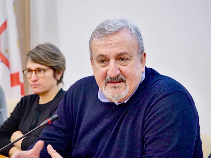 Michele Emiliano con De Simone